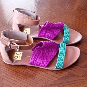 Dolce Vita Purple and Green Sandals